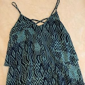 Miami spaghetti strap top, flowy fabric